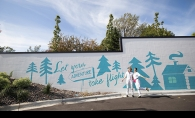 A mural painted on the side of the Caribou Coffee on Vernon Avenue in Edina