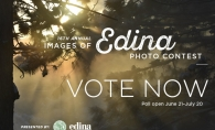 A graphic announcing voting for the 2020 Images of Edina photo contest.