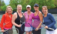 From left to right, Julie Madison, Heidi Kapacinskas, Betsy Cavanagh, Katey Taylor and Kelly Flaherty support the annual Golf & Tennis Classic.