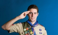 Alec McFarlane one of several Edina students to achieve the rank of Eagle Scout before graduation.