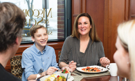 A family enjoys Mother's Day brunch at McCormick & Schmick's