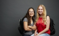Emma Anderson and Celia Orth of Aspire Mentoring, a tutoring program at Edina High School