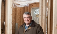 Jeff Schoenwetter of JMS Custom Homes donates his services to the University of St. Thomas education house in Edina.