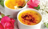 Vanilla bean creme brulee for two