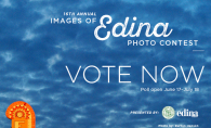 "A graphic that reads ""16th annual Images of Edina photo contest. Vote now."""
