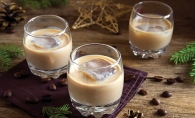 Three cups of homemade Irish cream.