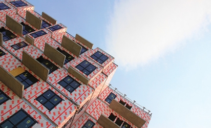 A building under construction at 50th and France juts into the sky in this Images of Edina submission.