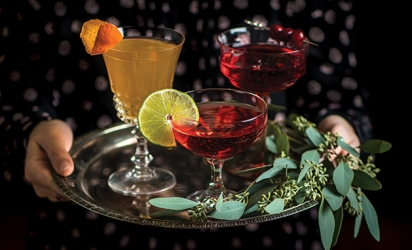 Cranberry cocktails created from recipes from Hilltop Restaurant, Coalition and Lunds and Byerlys in Edina.