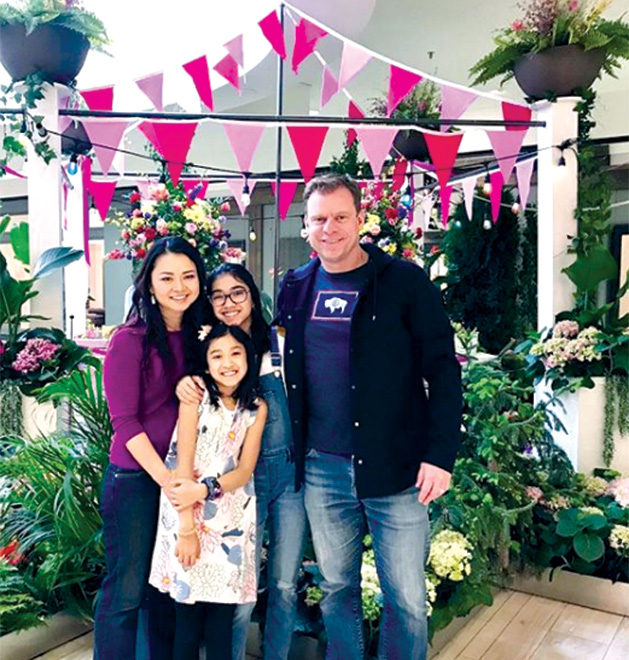 Mary Limbuck and her family at Galleria Garden Party.