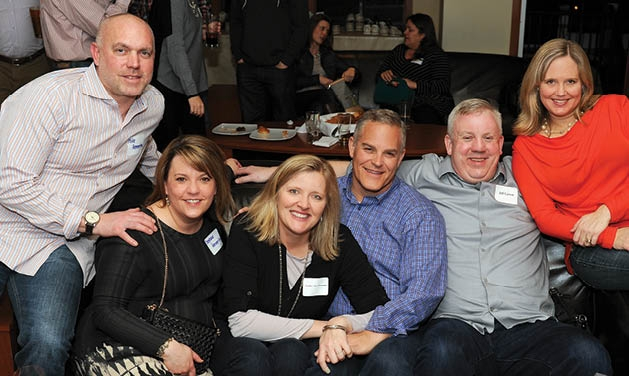 Michael and Stephanie Hemmerling, Julie and Scott Anderson, and Jeff and Cameon Carver