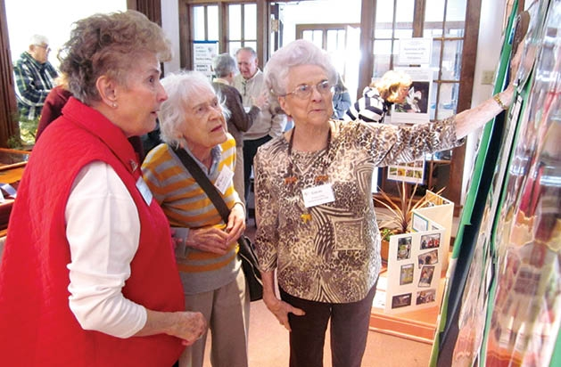 Joan Lonsbury, Ruth Liebe and Evelyn Gans