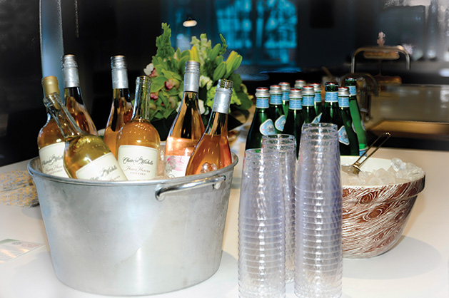An ice bucket filled with champagne at the Edina Community Foundation's 2019 Bold New Idea contest.