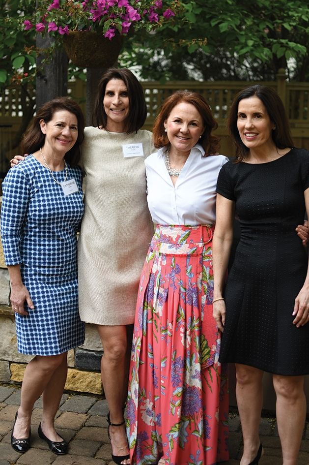 Catherine Gump, Therese Hovard, Deirdre Palmer and Maureen Brener at the Mill City Summer Opera reception.