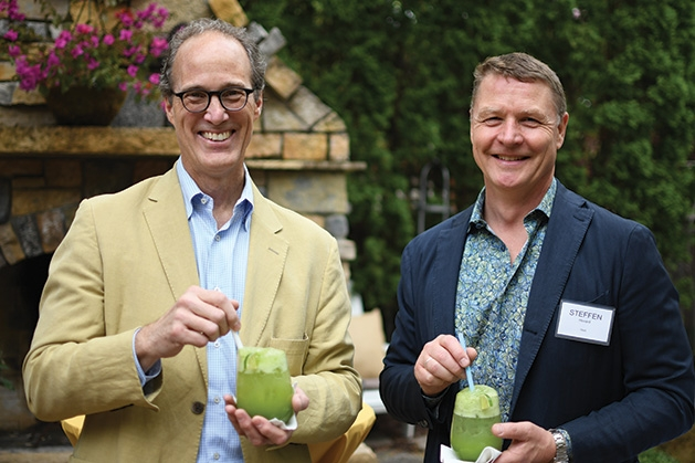 Mark Palmer and Steffen Hovard at the Mill City Summer Opera reception.