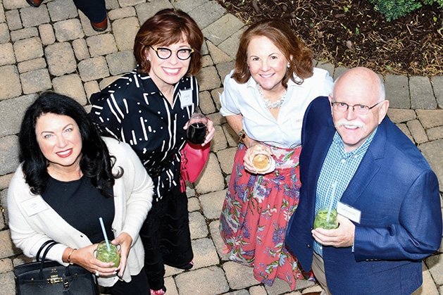 Lori Baron, Joanne Manthe, Deirdre Palmer and George Morrison at the Mill City Summer Opera reception.