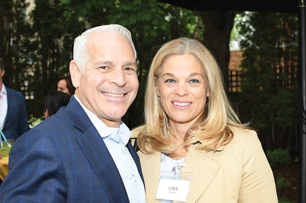 Paul and Lisa Gendler at the Mill City Summer Opera reception.