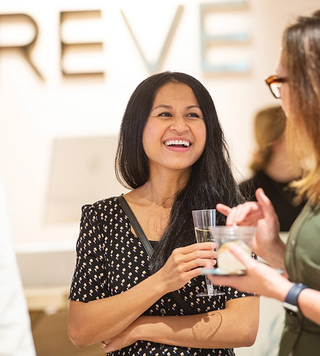 A guest at the Evereve Minneapolis Influencer Social