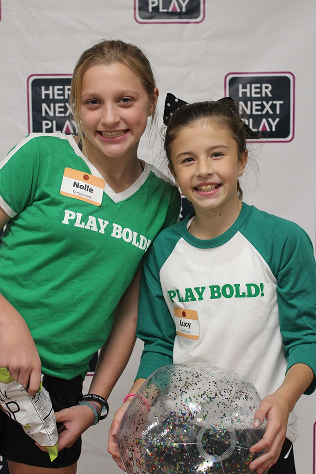 Two girls at the Girls' Sports Summit