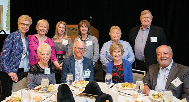 A table of guests at Angel Foundation Day 2019