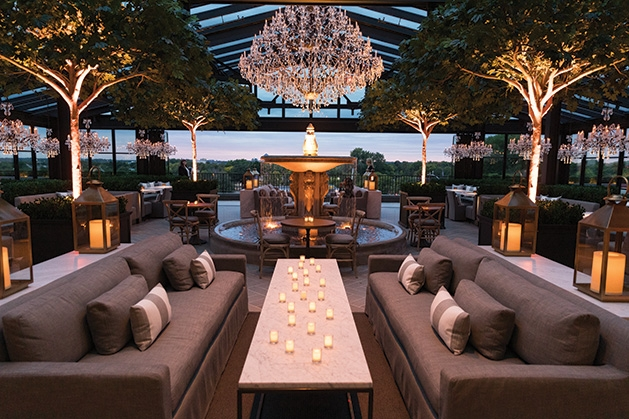The rooftop restaurant at Restoration Hardware in Edina.