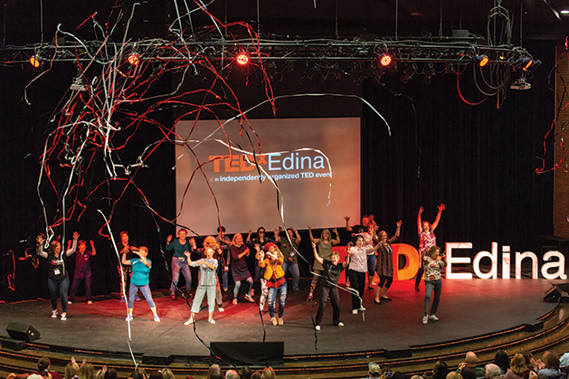 "TEDx Edina  Flash Mob to Justin Timberlake ""Can't Stop The Feeling"" by Edina Senior Center."