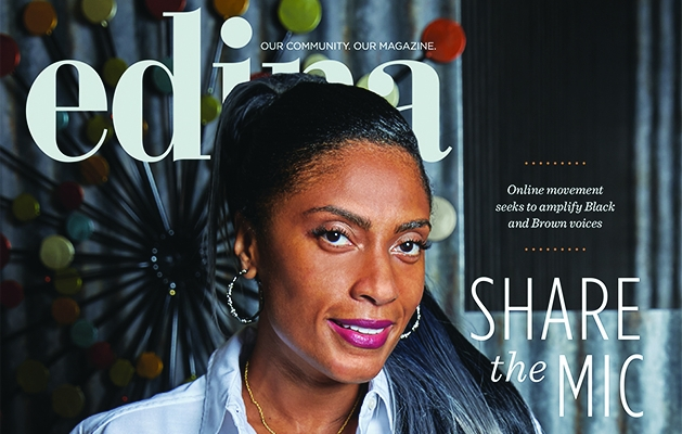 The cover of the October 2020 Edina Magazine, featuring Nicole Jennings