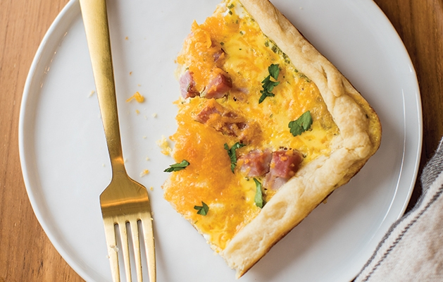 Ham Egg and Cheese Slab Pie