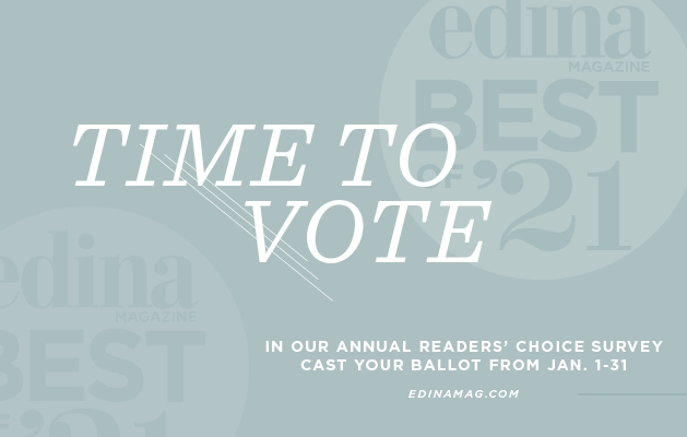 A graphic announcing the Best of Edina 2021 contest