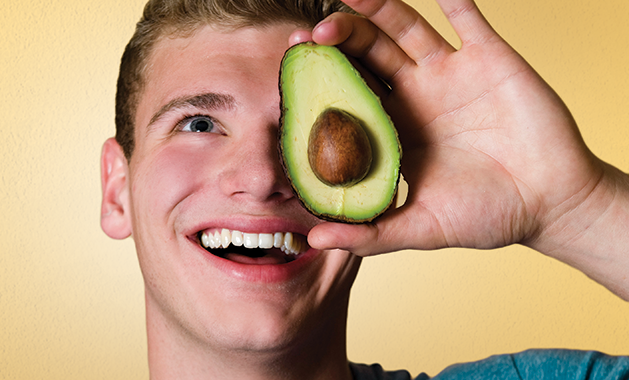 Chef Donny holds an avocado