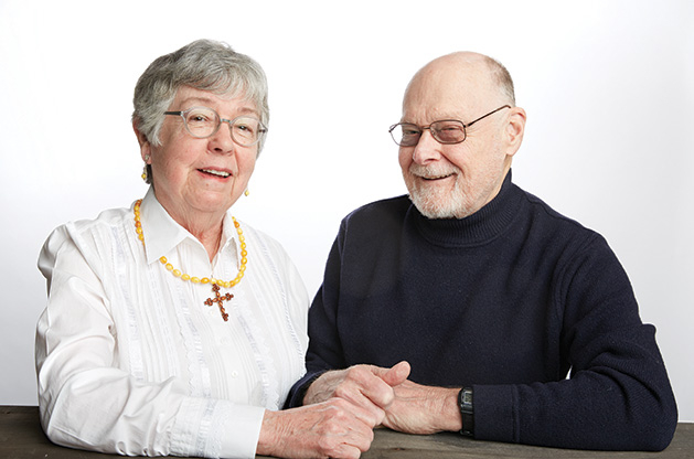 Polish cuisine chef John Fossum and his wife, Alta, who is part of the Edina Federated Women's Club.