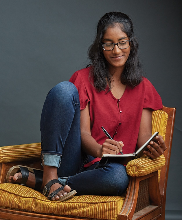 Edina High School student Dedeepya Guthikonda, who won a gold medal in the National Scholastic Art and Writing Competition.