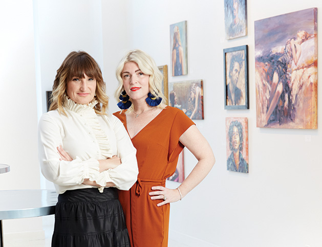 Hollie Blanchard and Kelly Netishen, the Art Girls curation service