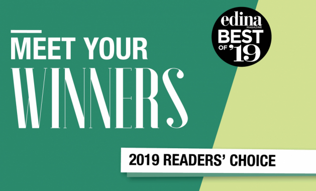 "A graphic that reads ""Meet Your Winners, Edina Magazine Best of '19 Readers' Choice"""