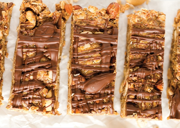 No bake oat nut bars from Greens N Chocolate