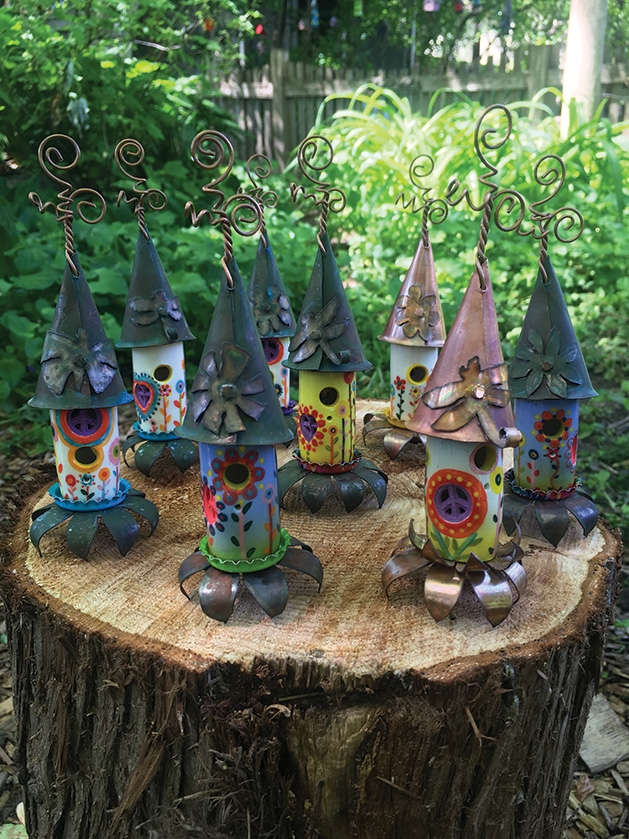 Fairy houses from The Faerie House