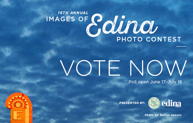 """A graphic that reads """"16th annual Images of Edina photo contest. Vote now."""""""
