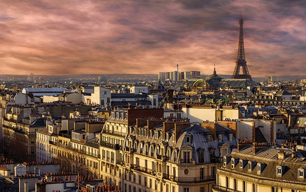 A shot of Paris, one of many great places to travel to during shoulder season.