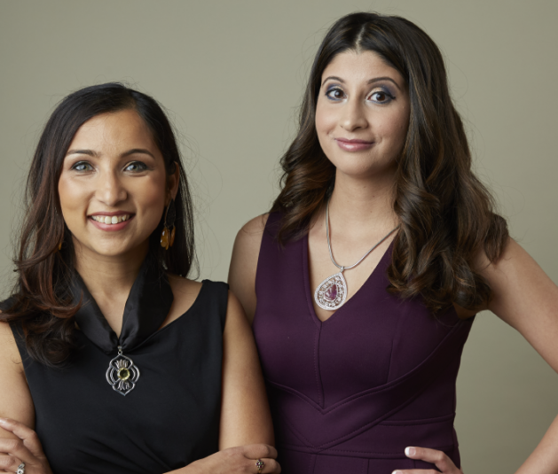 Local women Sheetal Backliwal and Feroza Mehta in Edina Magazine