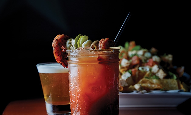 A bloody mary from Lakes Tavern & Grill in Woodbury