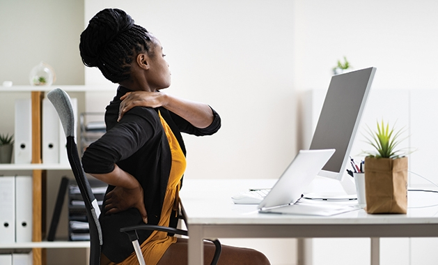 back pain while sitting