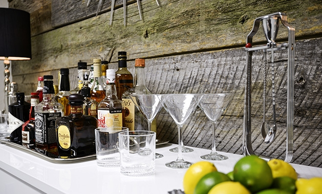 Everything you need to start a home bar.