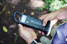 The XTorch, a solar-powered flashlight and cell phone charger.