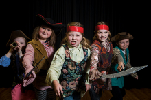 Children perform as pirates at Morningside Theatre Company.