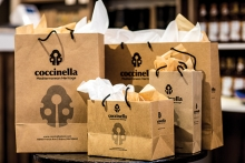 Bags filled with products from Coccinella, a Turkish boutique at 50th and France in Edina.