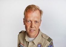 Craig Lebakken, head scout master for Boy Scout troop #62 and recipient of an Edina Community Foundation Connecting With Kids award.