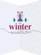 The cover of the 2018 Winter Wishlist holiday gift guide