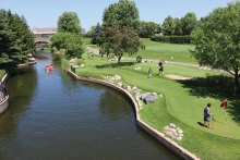 The putting course at Centennial Lakes Park