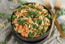 A Moroccan Farro Salad made by Taylor Ellingson of Greens and Chocolate.