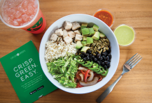 A bowl of healthy food from Crisp & Green.