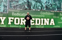 Edina High School head football coach Jason Potts